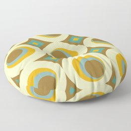 Mid-Century Modern Moonrise Floor Pillow
