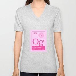 Periodic Elements - 118 Oganesson (Og) Unisex V-Neck