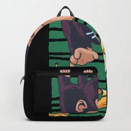 Cute Monkey with Bananas Banana Monkey Backpack