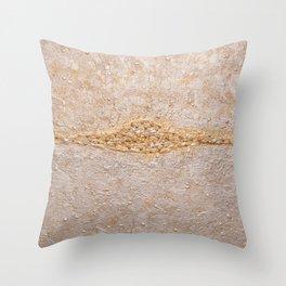 Horizon abstract painting Throw Pillow