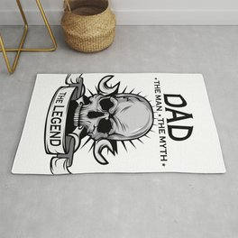 A Unique Detailed Skull Tee For Yourself? An Awesome T-shirt For Dad The Man The Myth The Legend Rug