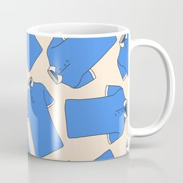 Shopping Blue Poloshirts Coffee Mug