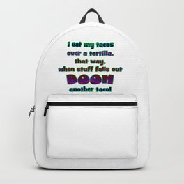 "Funny ""Boom Another Taco"" Joke Backpack"