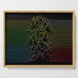 rainbow illustration - sound wave graphic Serving Tray