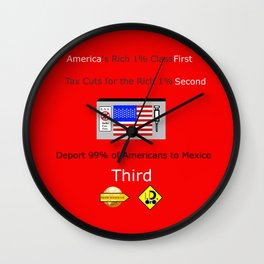 America FIrst Wall Clock