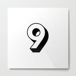 Lucky Number Nine ... 9 Metal Print