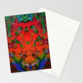 The inevitable red step Stationery Cards