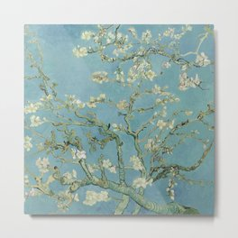 Fun Neck Gaiter Vincent Van Gogh Almond Blossoms Neck Gator Metal Print