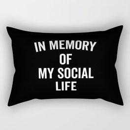 Memory Social Life Funny Quote Rectangular Pillow