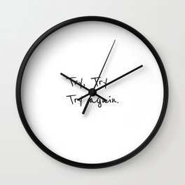 Try again, Positive quotes Wall Clock