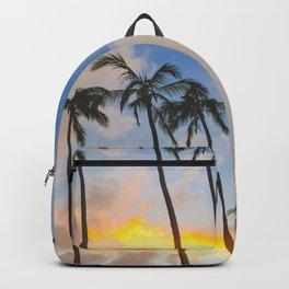 Sunset of the Palm Trees - Honolulu, Hawaii Backpack