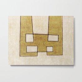 Protoglifo 06 'Mustard traverse cream' Metal Print