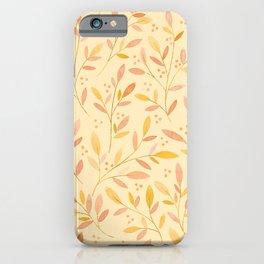 Leafy Sprigs | Orange iPhone Case