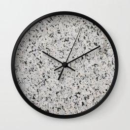 Black and white granite Wall Clock