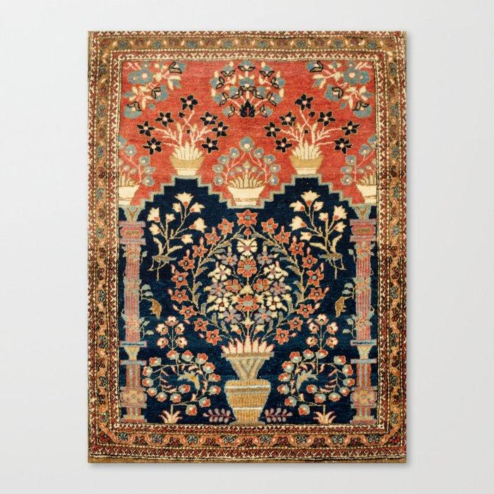 Kashan Poshti  Antique Central Persian Rug Print Leinwanddruck
