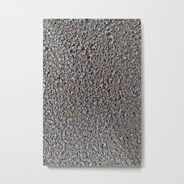 Grey Gravel Pattern Rocks Metal Print