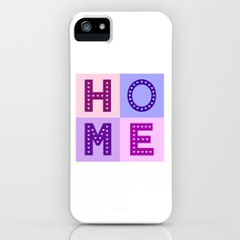 Love Hearts Home Type Pinks Purples iPhone Case