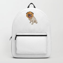 Pug Pumpkin, It's Show Time Funny Halloween Horror Scary Backpack
