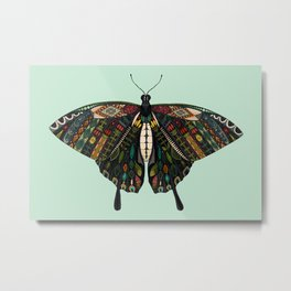swallowtail butterfly mint Metal Print