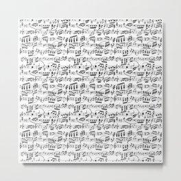 Music Pattern   Note Instrument Musical Listening Metal Print