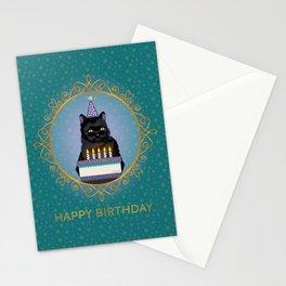 Black Cat Birthday Stationery Cards