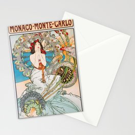 Alfons Mucha - Monaco, Monte Carlo - Digital Remastered Edition Stationery Cards