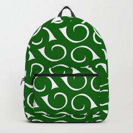 Swirls Green 2 Backpack