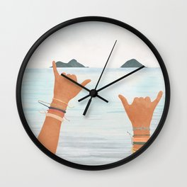 Shaka Sign Wall Clock
