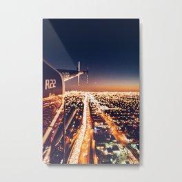 miami downtown aerial view Metal Print