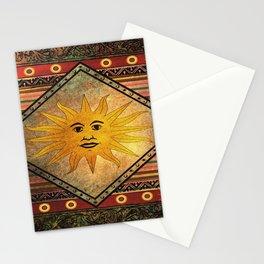 Sun Hippie Bohemian Vintage Festival Retro Stationery Cards