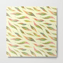 Colorful Eucalyptus Leaves Metal Print