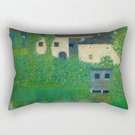 """Gustav Klimt """"Schloss Kammer on the Attersee"""" I. Rectangular Pillow"""