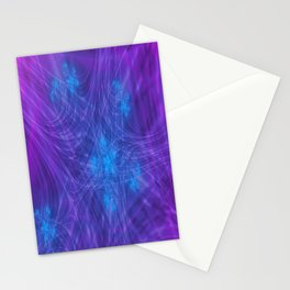 Mitosis in Purple Stationery Cards