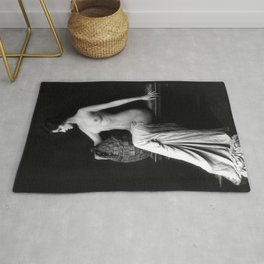 Ziegfeld Follies Girl poised Rug