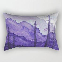 Tonal Mountain Study 2 Purple Rectangular Pillow