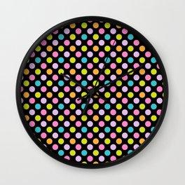 Retro 80s Pattern Dots Wall Clock