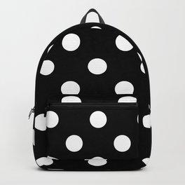 Polka Dots - White on Black Backpack