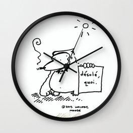 Desole, quoi Wall Clock