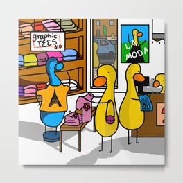 Ducks' Store   Veronica Nagorny  Metal Print