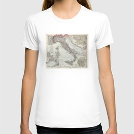 Vintage Map of Italy (1878) T-shirt