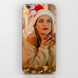 Images New year esting Bokeh Girls Winter hat Swea iPhone Skin