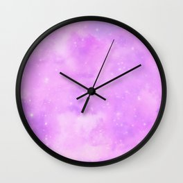 Pastel Cloulds Sky Seamless Nebula 118 Wall Clock