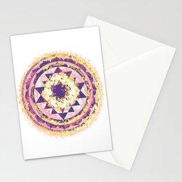 Golden Fire Sri Yantra Stationery Cards