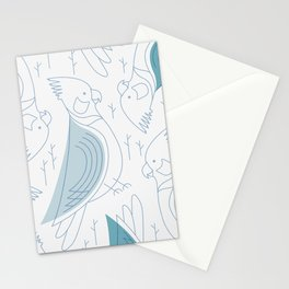 Minimalist Cockatiel Stationery Cards