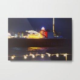vintage seaside pier Metal Print