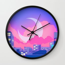 Dreamy Moon Nights Wall Clock
