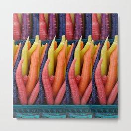 Colourful Carrots2 Metal Print