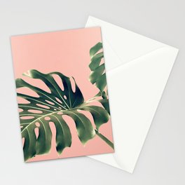 Monstera Blush Stationery Cards