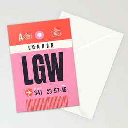 Baggage Tag A - LGW London Gatwick England UK Stationery Cards