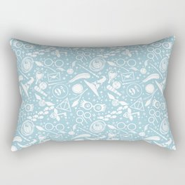 POTTER MAGICAL ITEMS WORLD IN BLUE PASTEL Rectangular Pillow